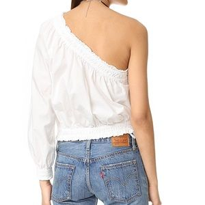 03ebfc0f4bc Free People Tops - Free People One Shoulder Top Size L White Anabelle